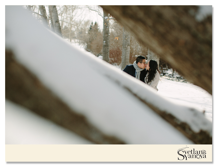 calgary engagement photos, calgary wedding photos, winter engagement photos, engagement photos in the park